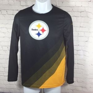 Steelers NFL Dri-fit  Long Sleeve Top Size L